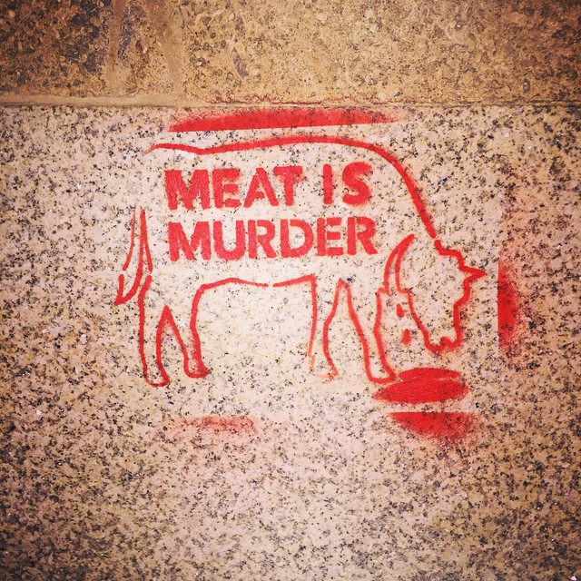 u0026quot meat is murder u0026quot  stencil concert merchandise