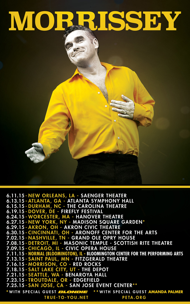 Us Tour Announced True To You Net Morrissey Solo